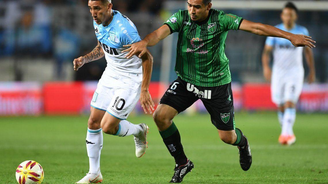 Racing vs San Martín de San Juan en la Superliga