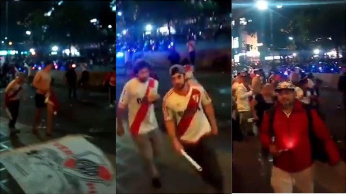 Incidentes en el Obelisco en el final de los festejos de River