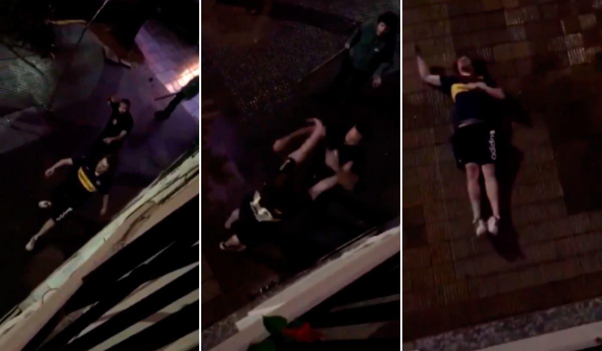 El brutal video de una agresión a un hincha de Boca que se viralizó por WhatsApp