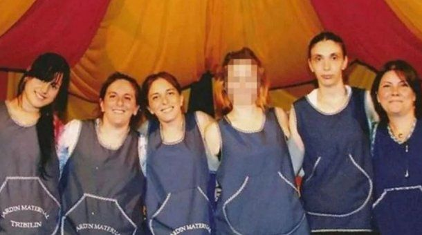 Las cinco docentes que fueron condenadas.