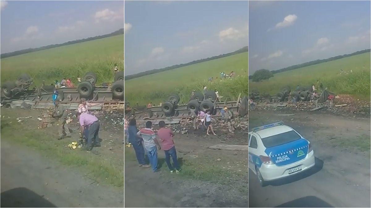 Saquearon un camión en la ruta a Famaillá