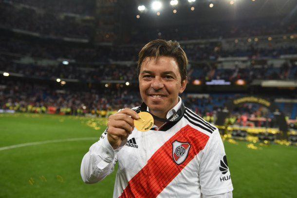 Marcelo Gallardo, campeón con River en la Libertadores - Crédito: @CARPoficial<div><br></div>