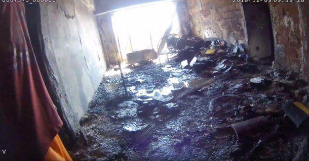 Incendio en Saavedra