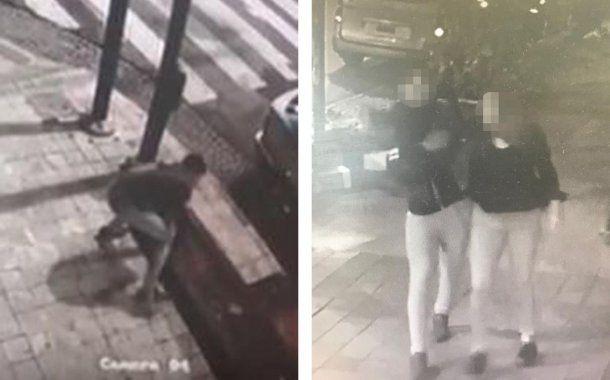 El agresor se ve en las filmaciones, pero no fue identificado.