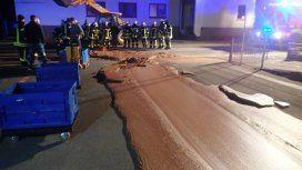 Un río de chocolate inundó una calle en un pueblo alemán