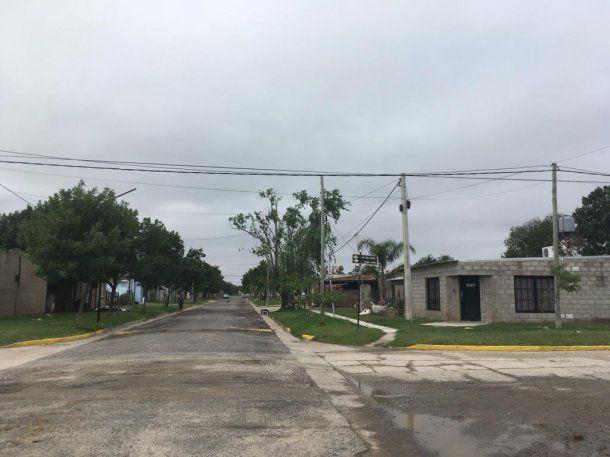 El barrio San Martín, uno de los dos más pobres de San Jorge y donde se quitaron la vida 11 personas en casi dos años.