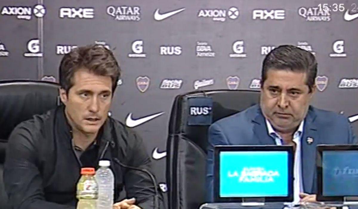 Angelici y Guillermo dieron una conferencia y confirmaron la salida del DT de Boca