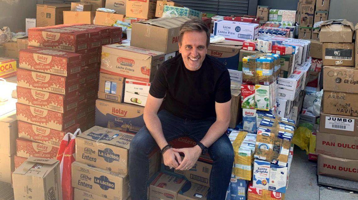 #LlenosDeNavidad La colecta de C5N y Justo Lamas llegó a la tonelada de alimentos