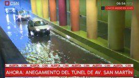 Temporal en Buenos Aires: cerraron el Túnel San Martín y hay complicaciones en Puente Pueyrredón
