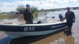 Dos jóvenes fueron hallados muertos en un río. Foto: @JuanCruzGoya.