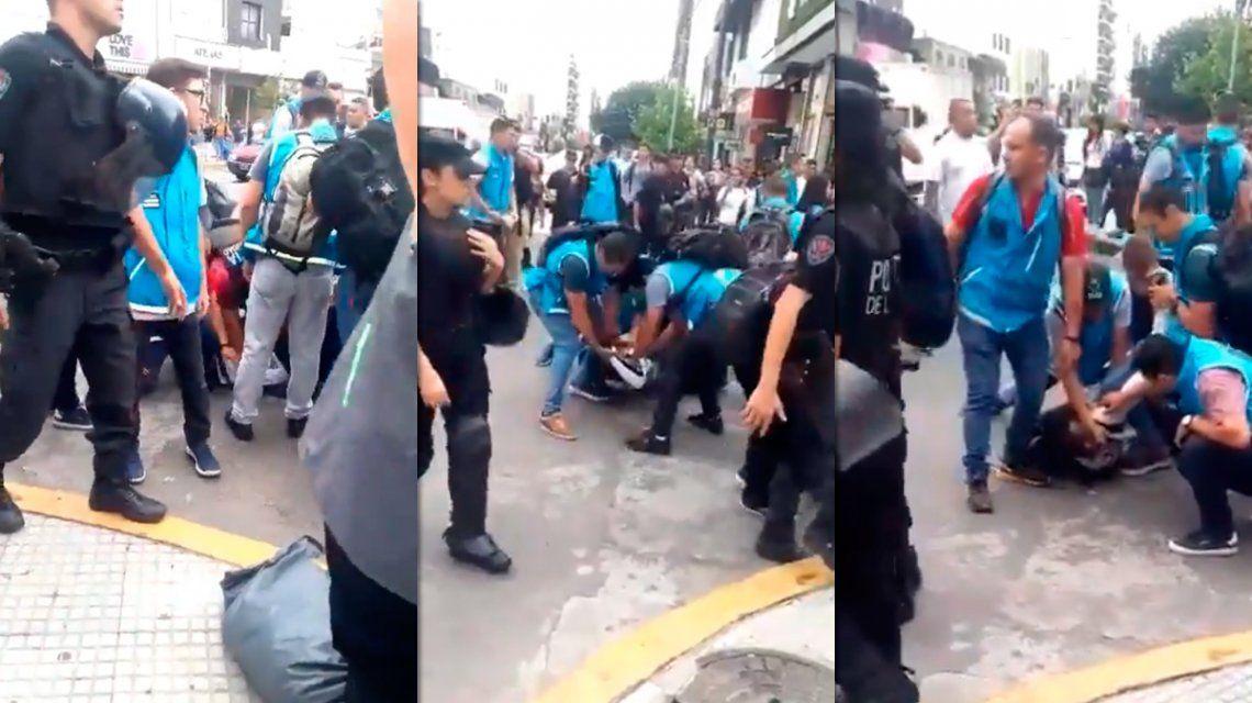 Tensión en Flores: la Policía detuvo a cuatro manteros e incautó un camión con mercadería