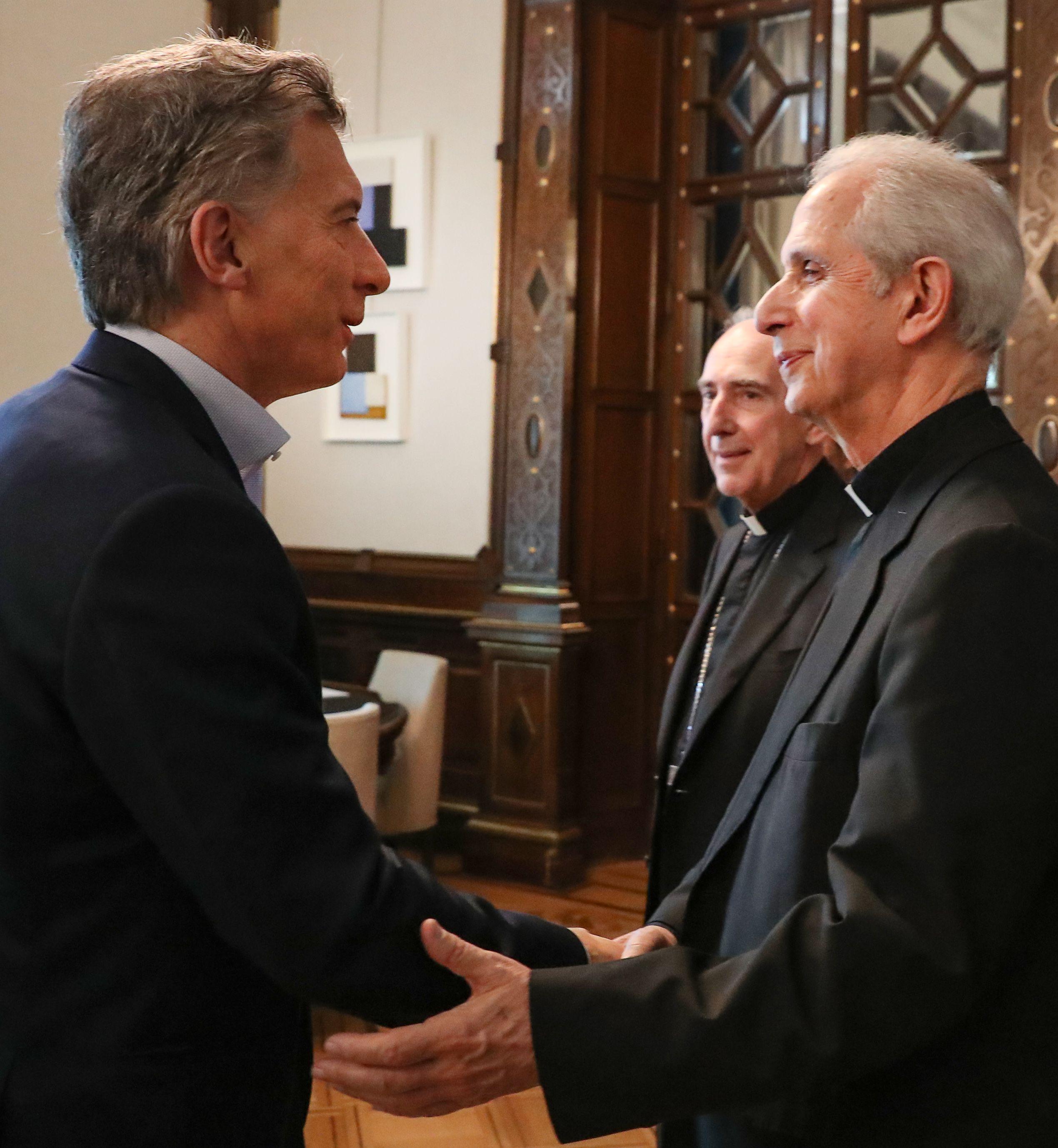 Mauricio Macri y el arzobispo de Buenos Aires Mario Poli