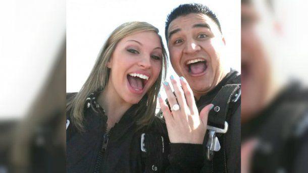 Zamora y su marido, en una foto más feliz<br>