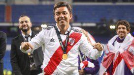 Marcelo Gallardo y el festejo de la Copa Libertadores