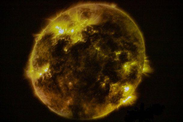 Proyección del Sol en el Planetario