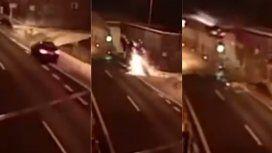 VIDEO: El auto salió volando