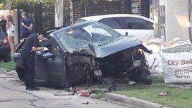 Se llevó el auto de su tío, lo persiguió la Policía y chocó a 200 KM/H: está grave