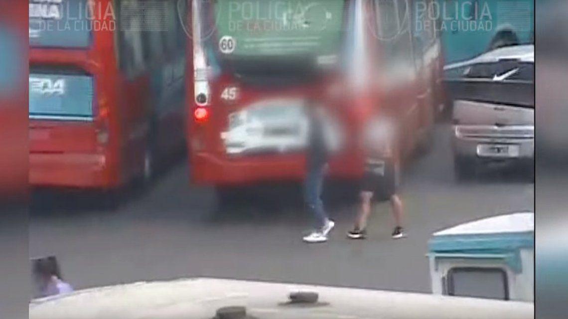 Policía de la Ciudad atrapó por las cámaras de seguridad a un ladrón canguro