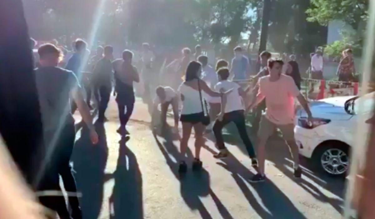 VIDEO: Brutal batalla campal a la salida de una fiesta en un club de rugby de Monte Grande