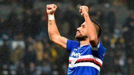 ¿Cómo hizo? Una pirueta de Quagliarella deslumbró a todos en el triunfo de la Sampdoria en Italia