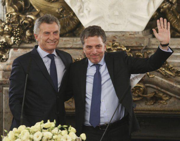 Mauricio Macri y Nicolás Dujovne<br>