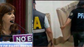 Se llevaron cuadros y obras de arte de Cristina Kirchner