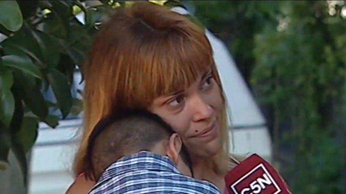 Habló la mamá de Kimey tras rencontrarse con su hijo