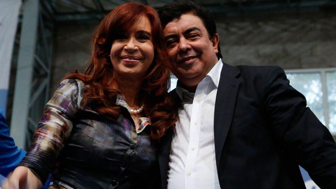 Cristina Kirchner y Fernando Espinoza