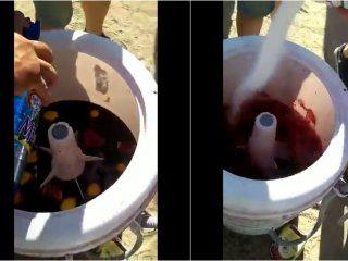 El lavarropas que hace sangría es furor en las redes