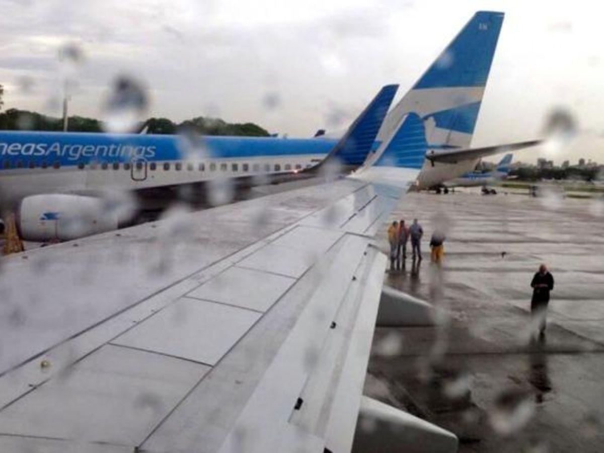 Tormenta en Aeroparque