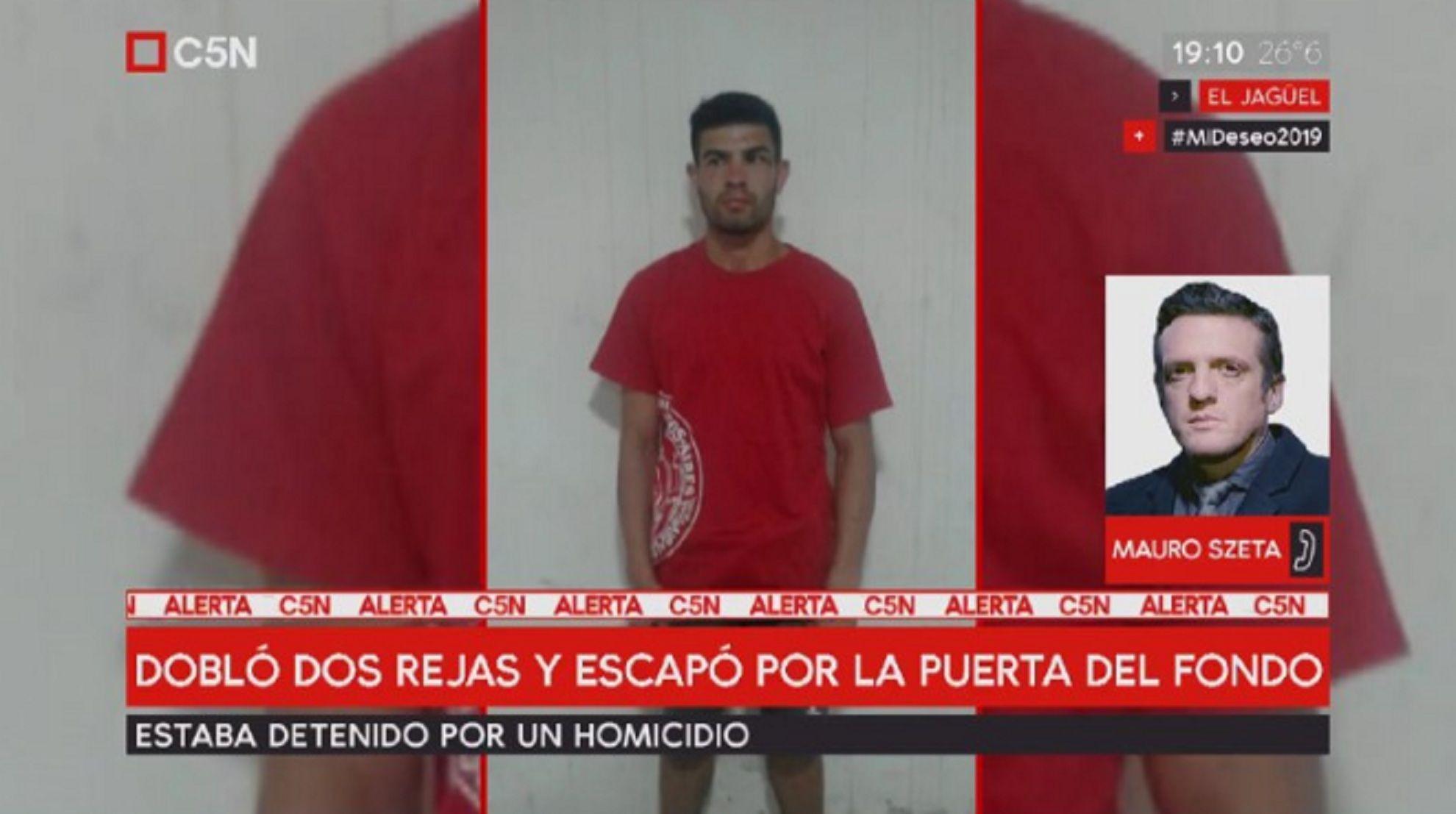 Se escapó un preso de una comisaría: estaba detenido por un homicidio