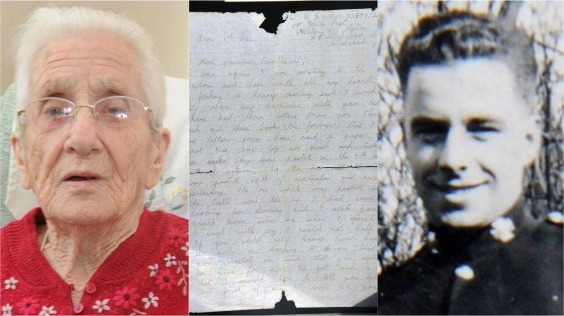 Le llegó una carta de su novio desaparecido hace 70 años - Crédito:Trevor Porter / SWNS