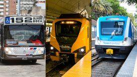 Entre mañana y el martes suben colectivos, trenes y subte: cuánto te costará viajar a la Ciudad