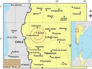 un sismo de 5,4 grados en la escala de richter sacudio a san juan