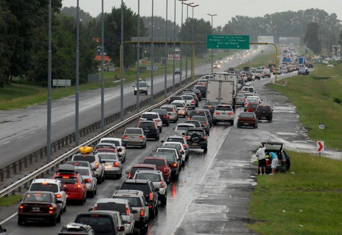 Por la lluvia, fue muy lento el regreso a Buenos Aires luego del fin de semana largo
