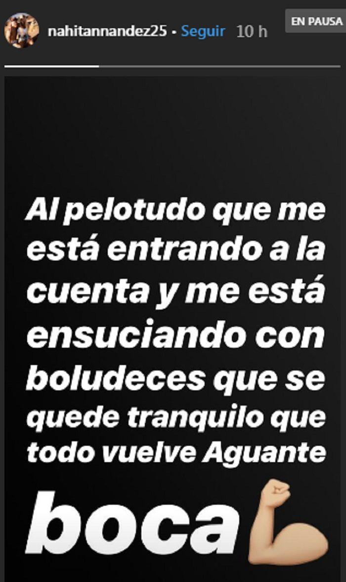 Nahitán Nández, explosivo en Instagram: desmentida, insultos y aguante Boca
