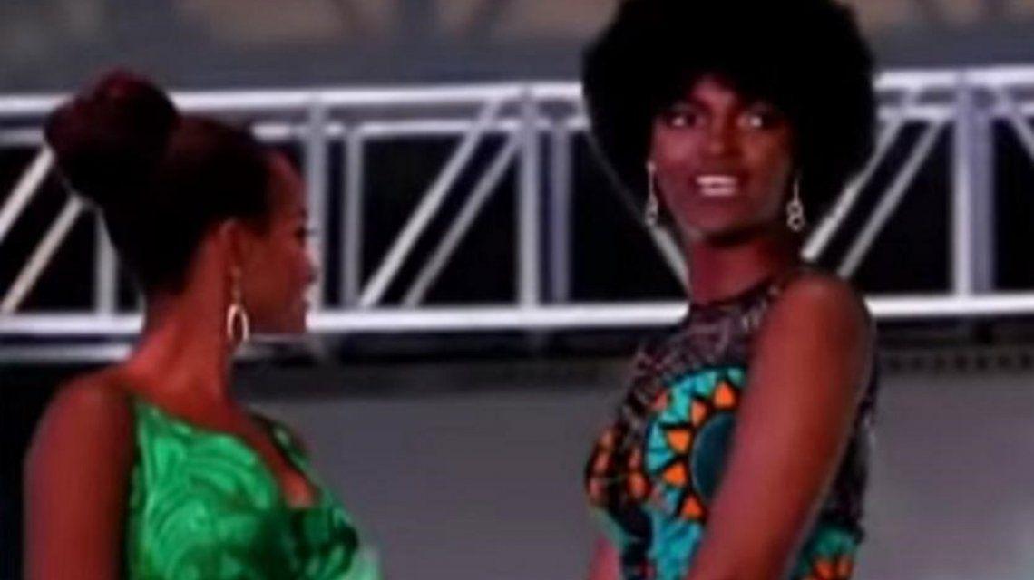Impresionante accidente: se le prendió fuego el pelo a Miss África en plena coronación
