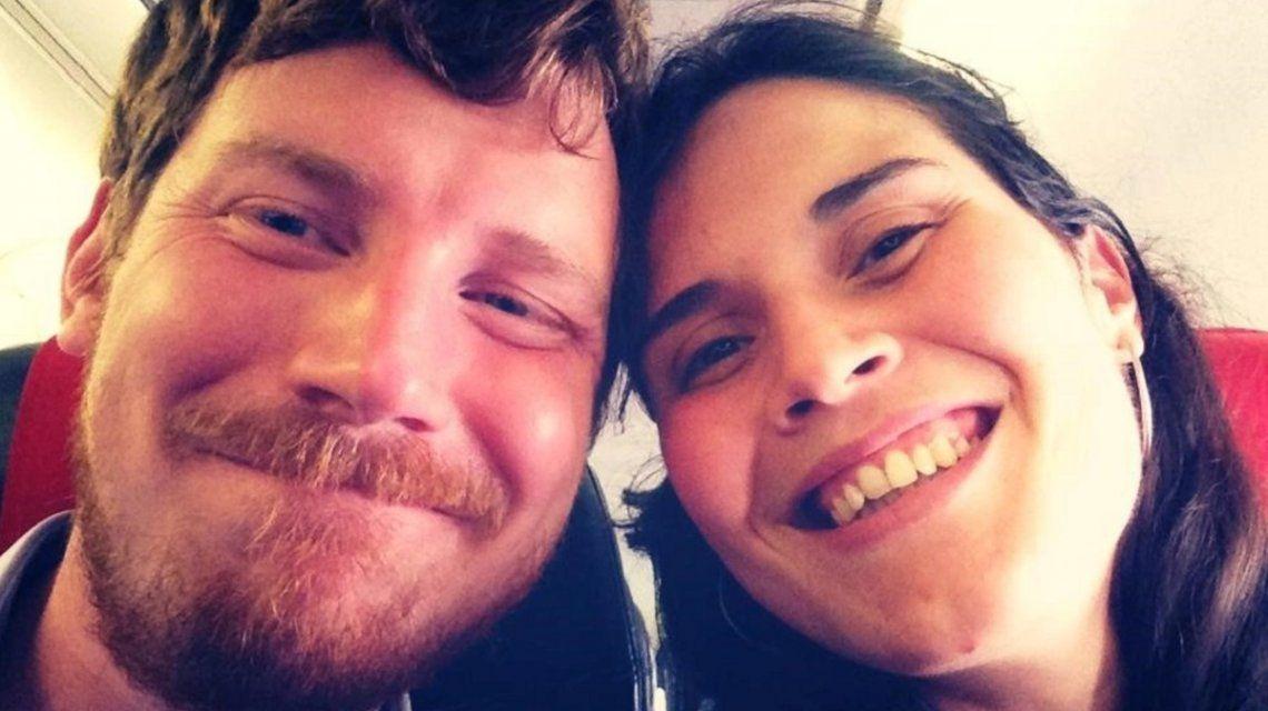 Christoffer Persson y su pareja María Izzo