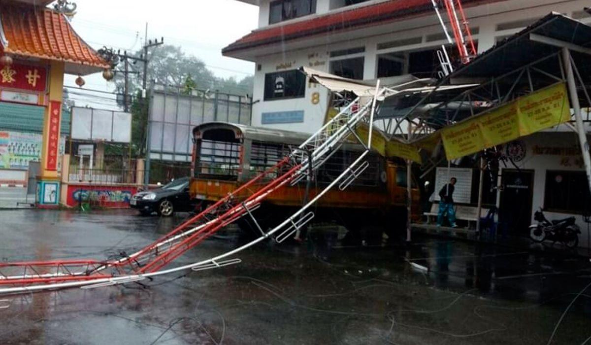 Cientos de turistas quedaron varados en Tailandia por la tormenta Pabuk