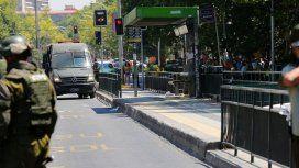 El atentado en Santiago de Chile al menos cinco heridos