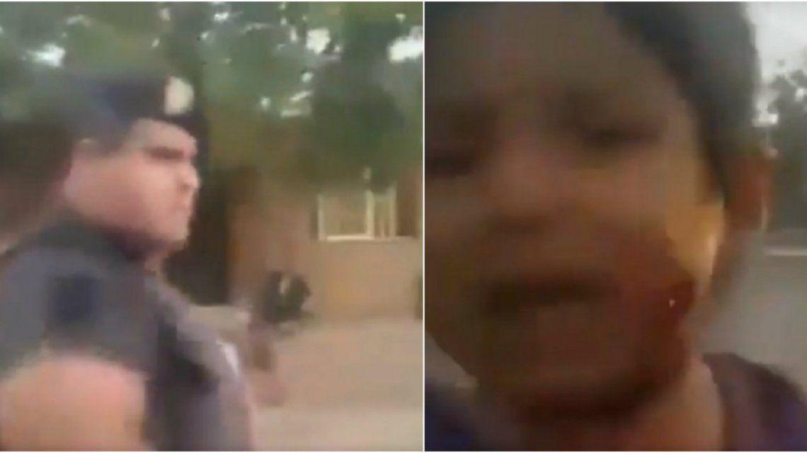 VIDEO: la policía mendocina reprimió con balas de goma e hirió a una nena en la cara