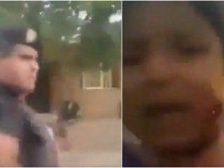video: la policia mendocina reprimio con balas de goma e hirio a una nena en la cara