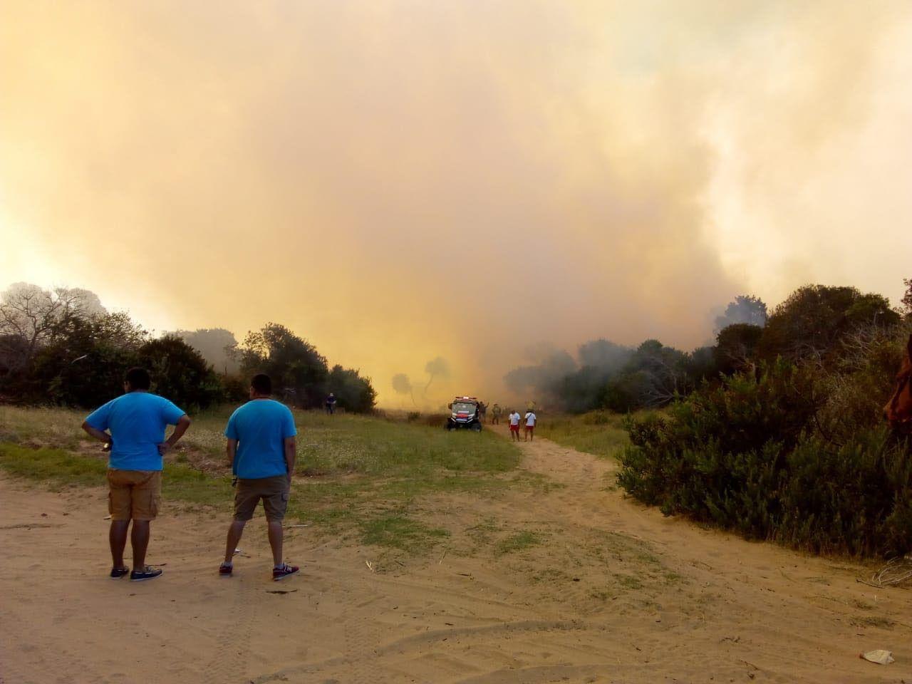 Impactante incendio en Villa Gesell: al menos quince dotaciones para controlar las llamas