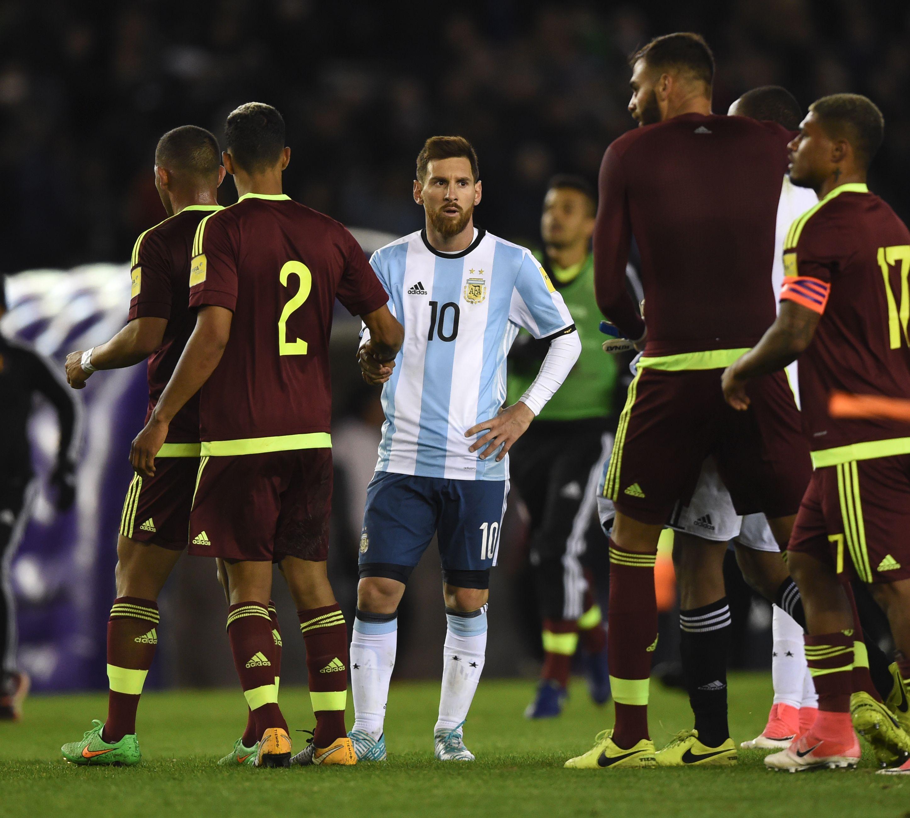 Lionel Messi ante Venezuela
