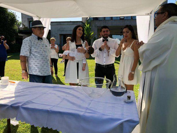 Jana, la hija menor de Maradona, es la madrina<br>