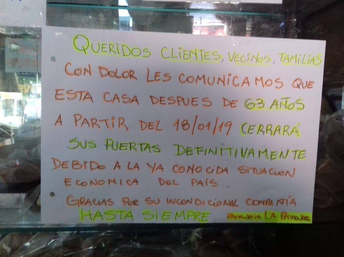 Una legendaria panadería de La Plata llegó a su fin por los tarifazos