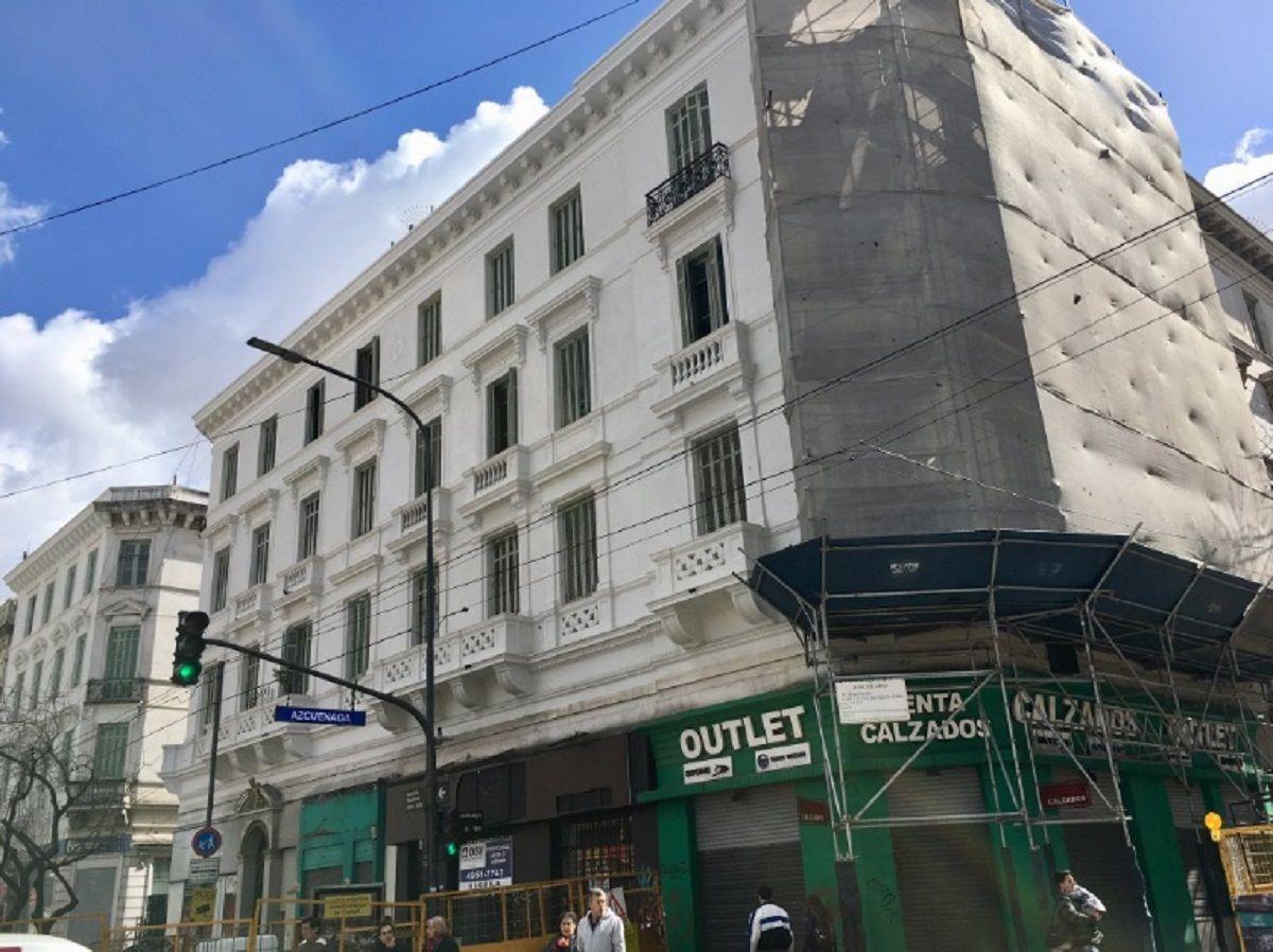 Arreglo de la fachada de un edificio - Crédito: @Apuntes_
