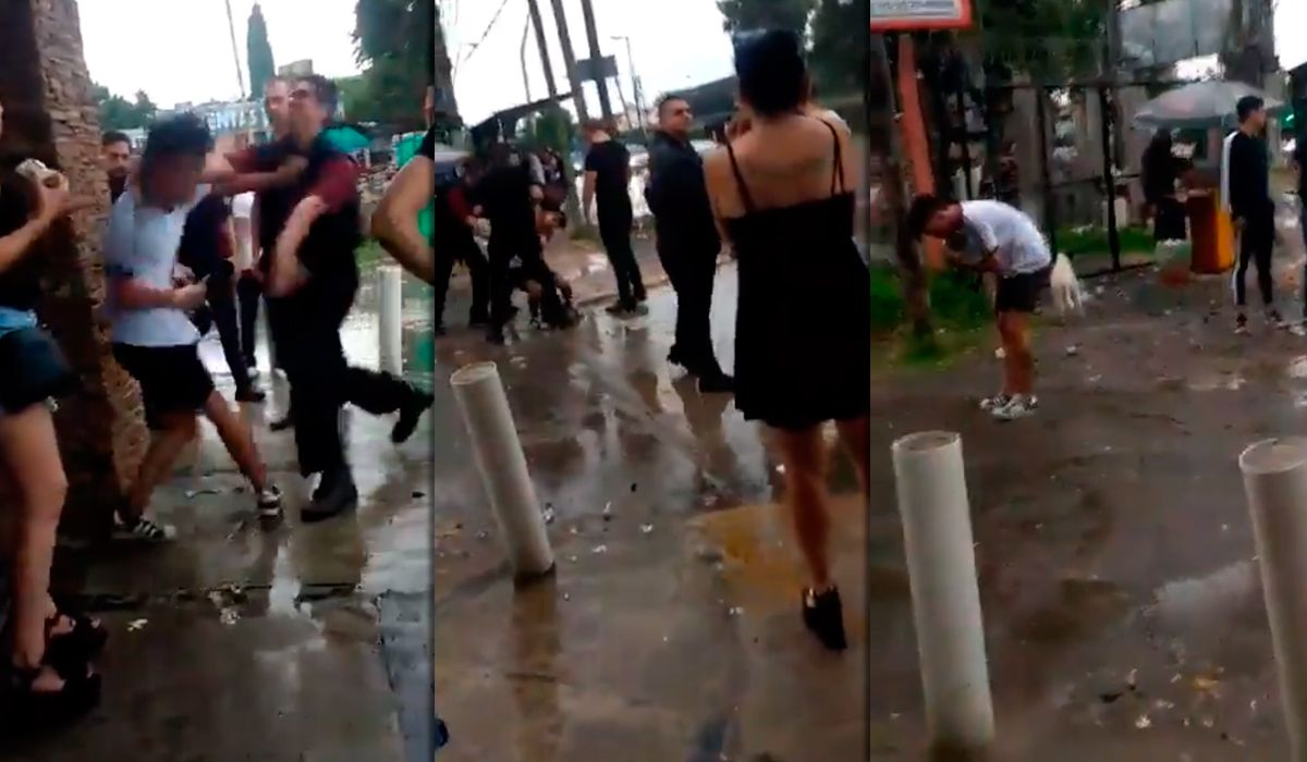VIDEO: Un patovica ahorcó a un joven a la salida de un boliche y lo dejó inconsciente