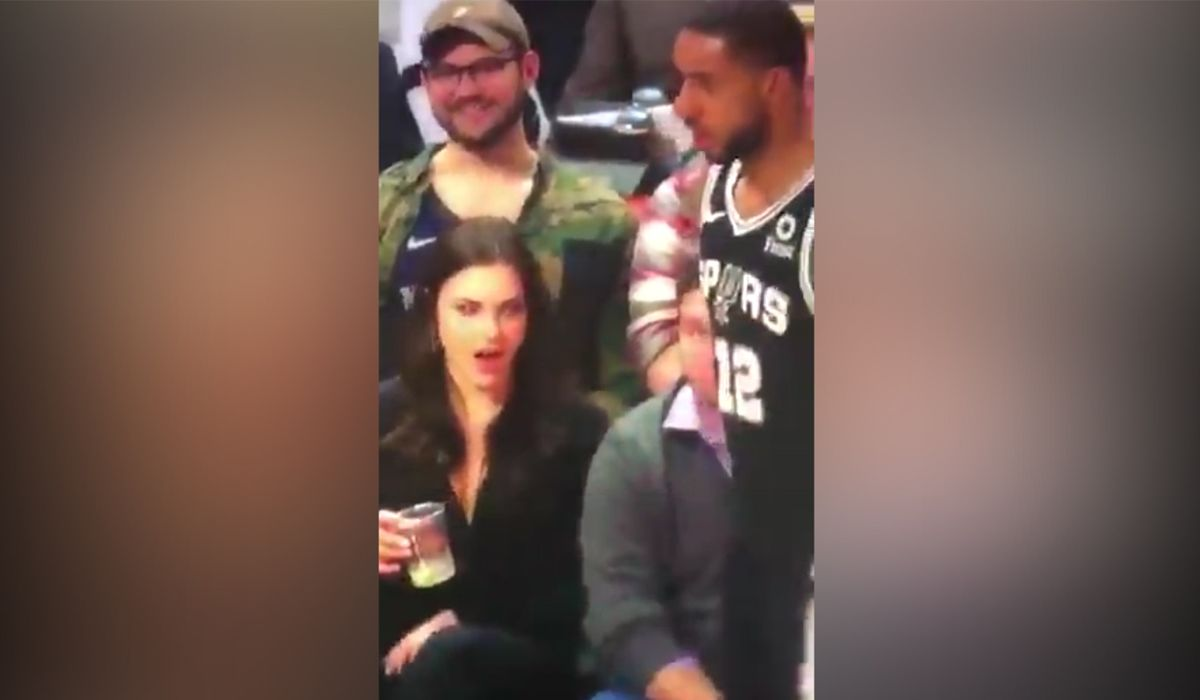La increíble reacción de una mujer al ver de cerca a LaMarcus Aldridge se hizo viral