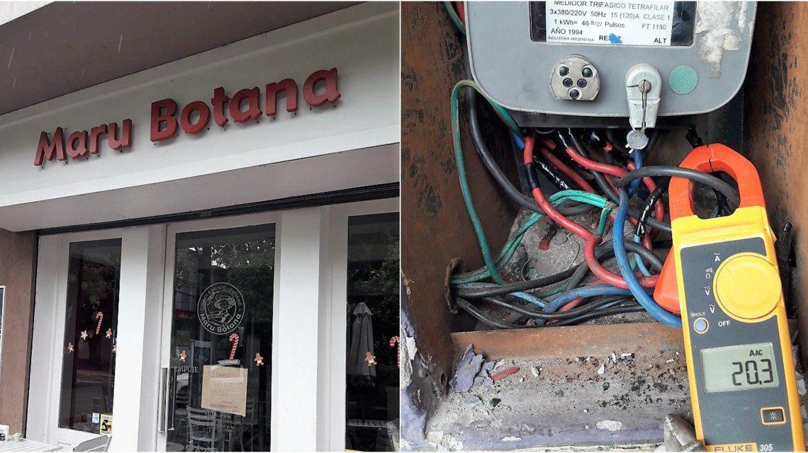 Así encontraron la conexión en el local